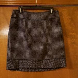 Navy/burgundy patterned skirt